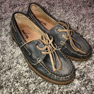 Bed Stu Footwear Womens 7 Boat Shoes Loafers blue